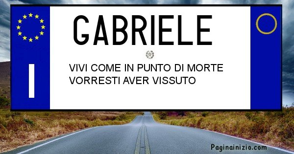 Gabriele - Targa personalizzata sul Cognome Gabriele