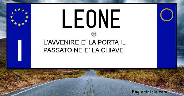 Leone - Targa personalizzata sul Cognome Leone