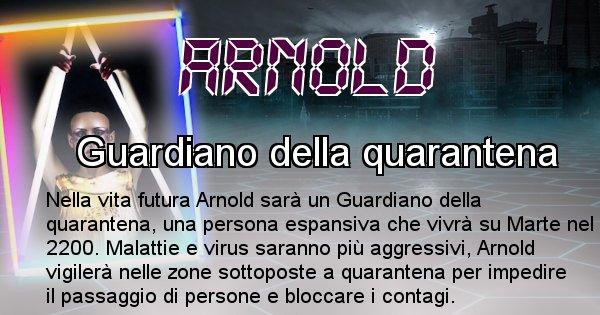 Arnold - Chi sarà nella prossima vita Arnold