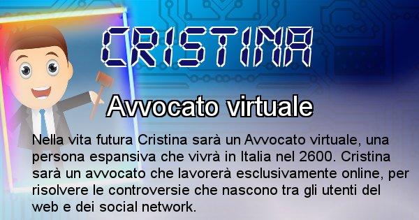 Cristina - Chi sarà nella prossima vita Cristina