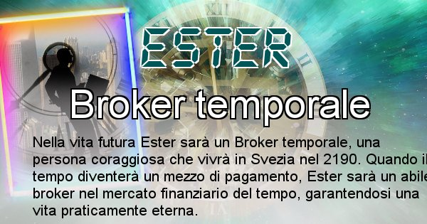 Ester - Chi sarà nella prossima vita Ester