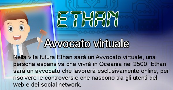 Ethan - Chi sarà nella prossima vita Ethan