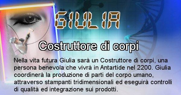 Giulia - Chi sarà nella prossima vita Giulia