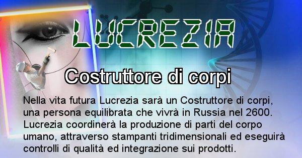 Lucrezia - Chi sarà nella prossima vita Lucrezia