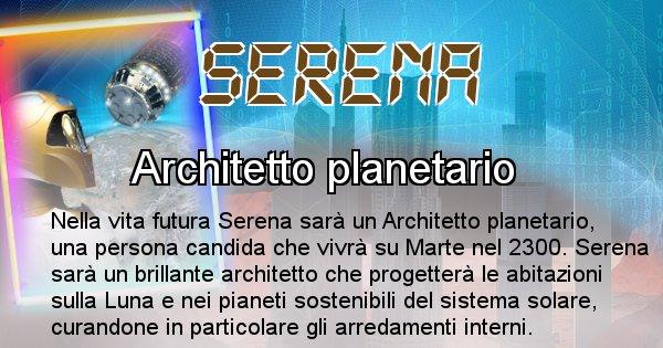 Serena - Chi sarà nella prossima vita Serena
