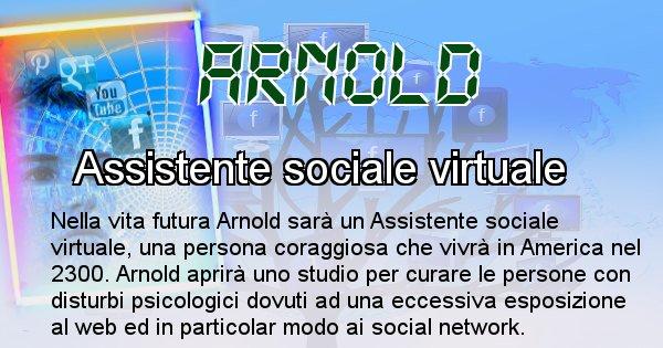 Arnold - Scopri chi sarai nella prossima vita analizzando il Cognome Arnold
