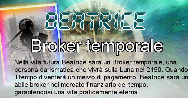 Beatrice - Scopri chi sarai nella prossima vita analizzando il Cognome Beatrice