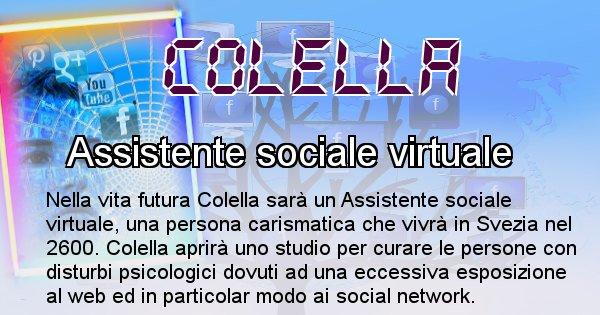 Colella - Scopri chi sarai nella prossima vita analizzando il Cognome Colella