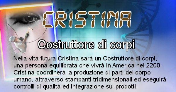 Cristina - Scopri chi sarai nella prossima vita analizzando il Cognome Cristina