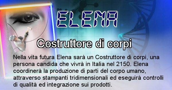 Elena - Scopri chi sarai nella prossima vita analizzando il Cognome Elena