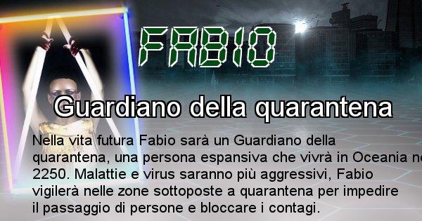 Fabio - Scopri chi sarai nella prossima vita analizzando il Cognome Fabio