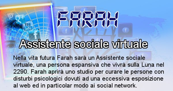Farah - Scopri chi sarai nella prossima vita analizzando il Cognome Farah