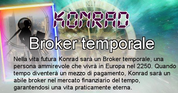 Konrad - Scopri chi sarai nella prossima vita analizzando il Cognome Konrad