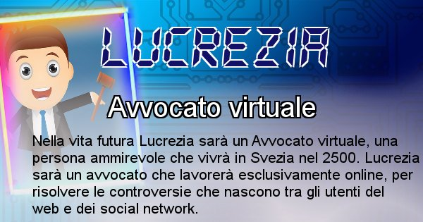 Lucrezia - Scopri chi sarai nella prossima vita analizzando il Cognome Lucrezia