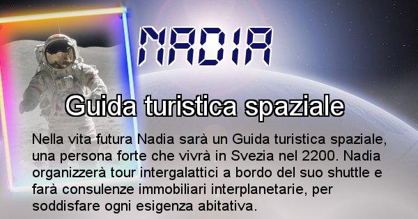 Nadia - Scopri chi sarai nella prossima vita analizzando il Cognome Nadia