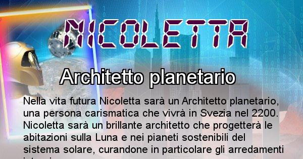 Nicoletta - Scopri chi sarai nella prossima vita analizzando il Cognome Nicoletta