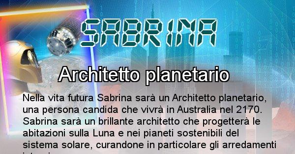 Sabrina - Scopri chi sarai nella prossima vita analizzando il Cognome Sabrina