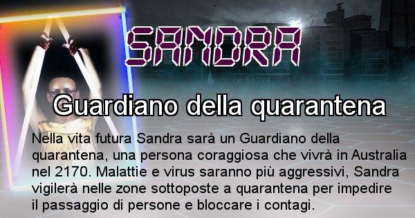 Sandra - Scopri chi sarai nella prossima vita analizzando il Cognome Sandra