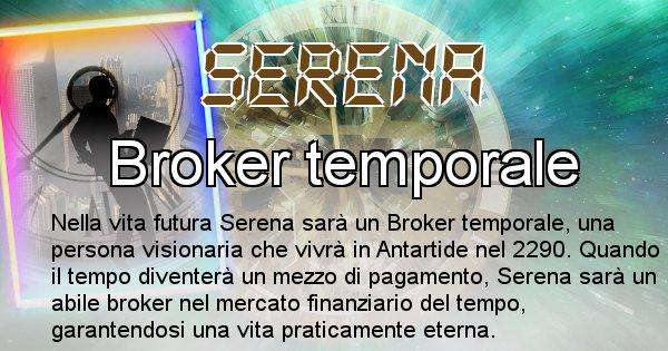 Serena - Scopri chi sarai nella prossima vita analizzando il Cognome Serena