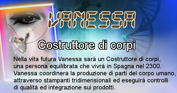 Vanessa - Scopri chi sarai nella prossima vita analizzando il Cognome Vanessa
