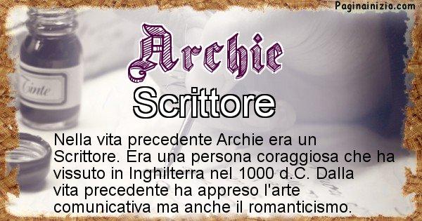 Archie - Chi era nella vita precedente Archie