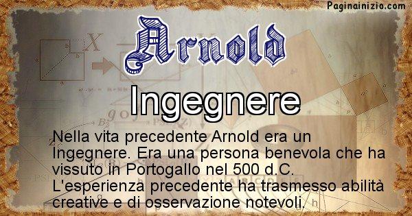 Arnold - Chi era nella vita precedente Arnold