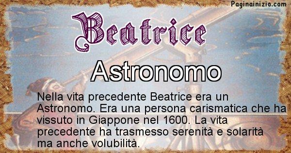 Beatrice - Chi era nella vita precedente Beatrice