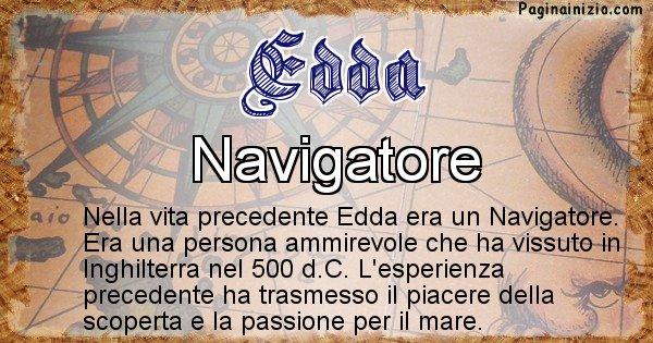 Edda - Chi era nella vita precedente Edda