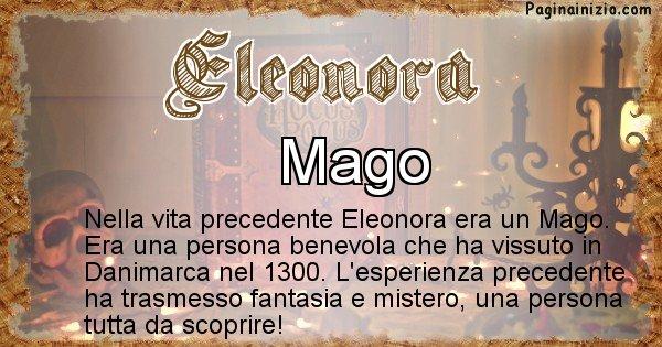 Eleonora - Chi era nella vita precedente Eleonora