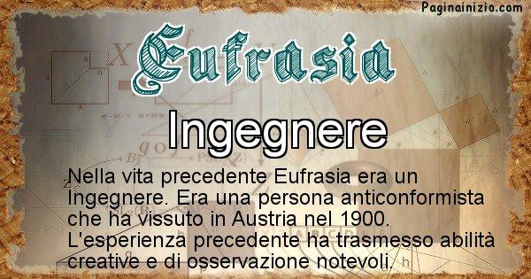 Eufrasia - Chi era nella vita precedente Eufrasia