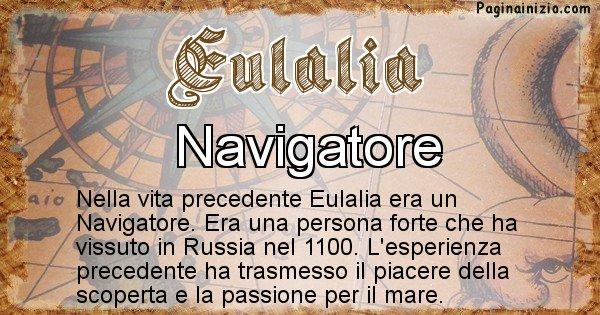 Eulalia - Chi era nella vita precedente Eulalia