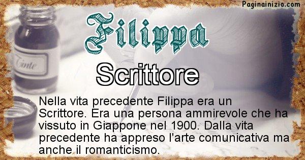 Filippa - Chi era nella vita precedente Filippa