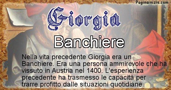 Giorgia - Chi era nella vita precedente Giorgia