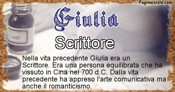Giulia - Chi era nella vita precedente Giulia