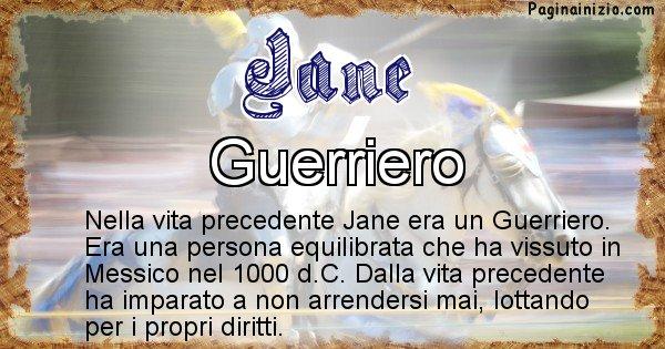 Jane - Chi era nella vita precedente Jane