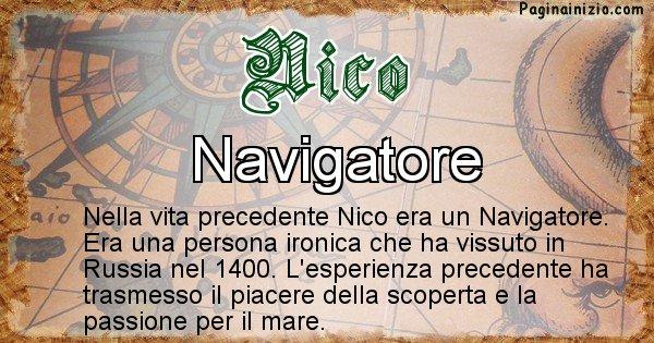 Nico - Chi era nella vita precedente Nico