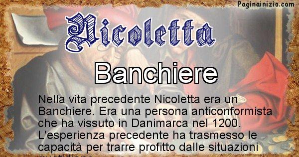 Nicoletta - Chi era nella vita precedente Nicoletta