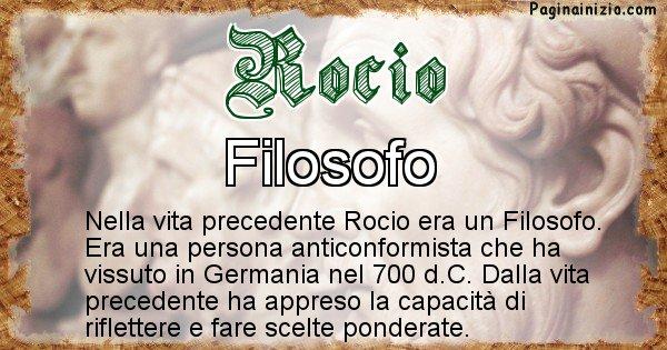 Rocio - Chi era nella vita precedente Rocio