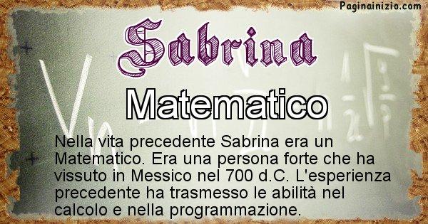 Sabrina - Chi era nella vita precedente Sabrina