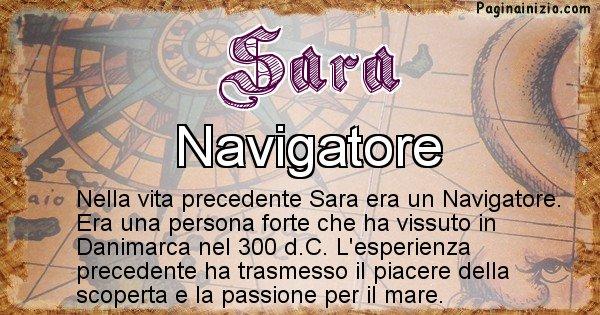 Sara - Chi era nella vita precedente Sara
