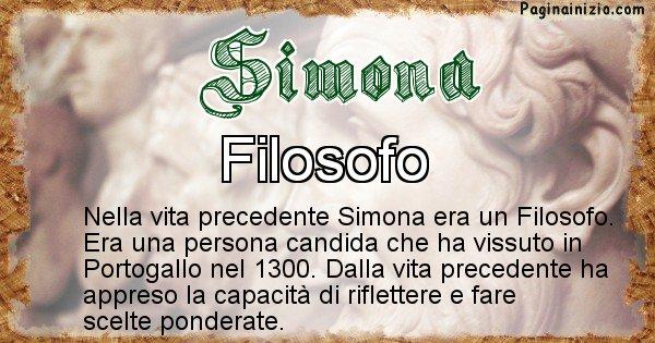 Simona - Chi era nella vita precedente Simona