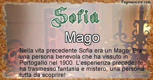Sofia - Chi era nella vita precedente Sofia