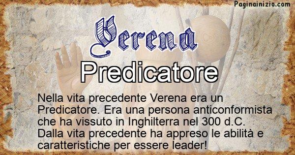 Verena - Chi era nella vita precedente Verena