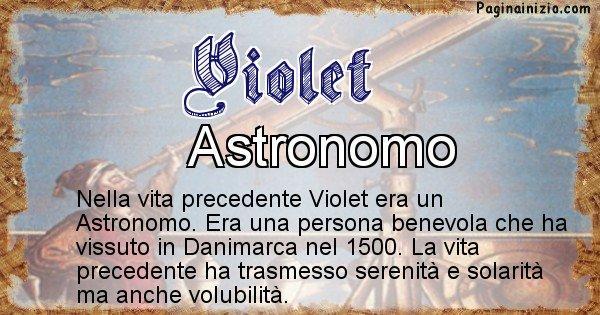 Violet - Chi era nella vita precedente Violet