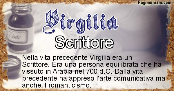 Virgilia - Chi era nella vita precedente Virgilia