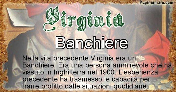 Virginia - Chi era nella vita precedente Virginia