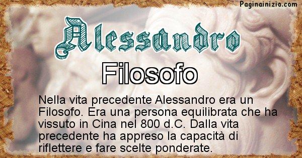 Alessandro - Vita precedente analizzando il cognome Alessandro