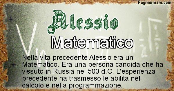 Alessio - Vita precedente analizzando il cognome Alessio