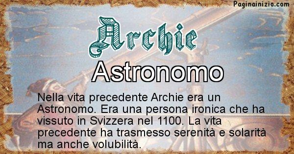 Archie - Vita precedente analizzando il cognome Archie