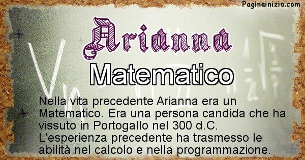 Arianna - Vita precedente analizzando il cognome Arianna